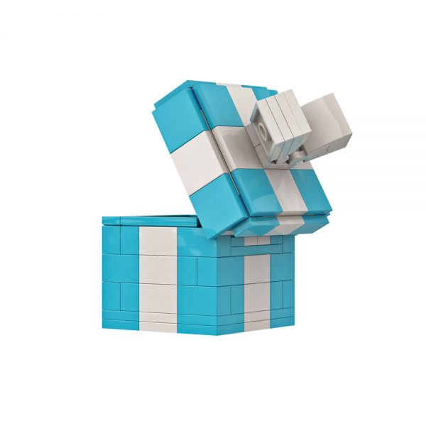 Mocbrickland Moc 89838 Exquisite Small Gift Box Clamshell Green White (5)