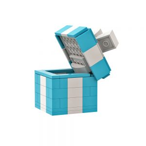 Mocbrickland Moc 89838 Exquisite Small Gift Box Clamshell Green White (7)