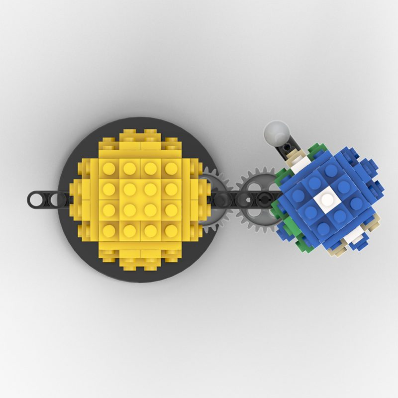 MOCBRICKLAND MOC-89840 Mini Sun and Earth