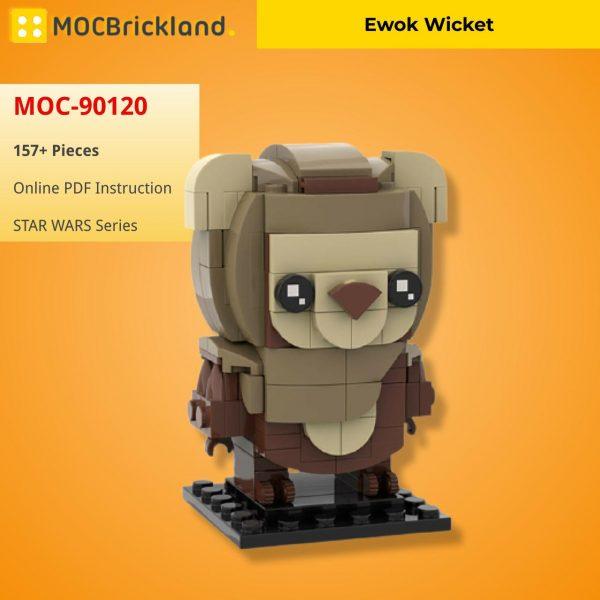 Mocbrickland Moc 90120 Ewok Brickheadz Wicket (2)