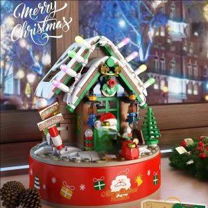 Panlos 656012 Rotating Christmas House Music Box (1)