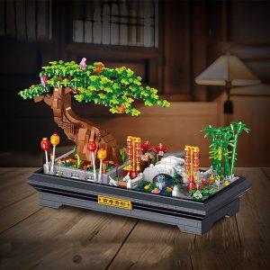 Zhegao 00899 Green Pine Bonsai (5)